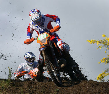 Kurt Caselli wrangles his KTM through the 2006 ISDE.