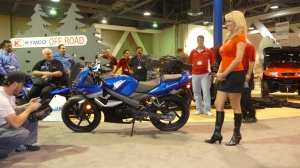 KYMCO unveils the Quannon at the Long Beach IMS stop.
