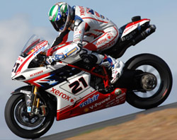 Troy Bayliss riding in the 2008 World superbike Championship