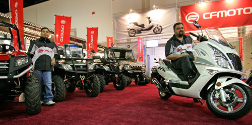 CFMOTO sports its UTV lineup, led by its new 600cc EFI Z6.